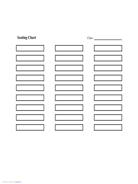 seating chart template   templates   word