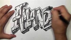Graffiti Speed Drawing Name Art - AMANDA - YouTube