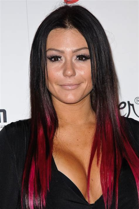 Black With Red Tips Hair Pinterest Jwoww Hair Hair