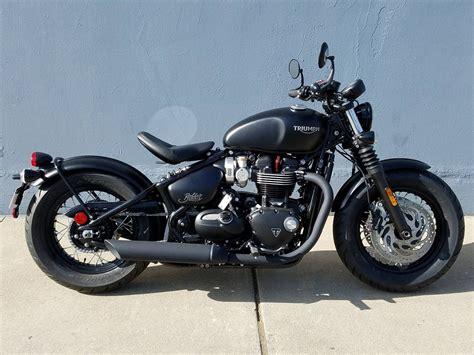 New 2019 Triumph Bonneville Bobber Black Motorcycles In