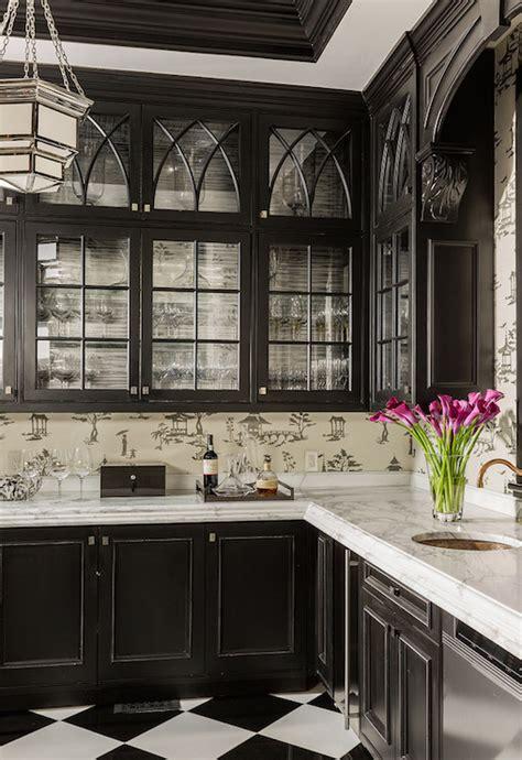 black kitchen cabinets asian kitchen elms interior