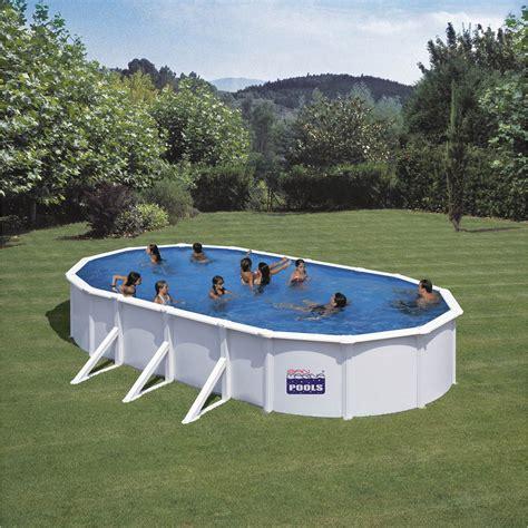 piscine hors sol acier enterree piscine hors sol acier san clara gre ovale 3 75x7 3x1 2m