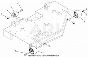 Ariens 915175  000101 - 015999  Ikon-x 42 Parts Diagram For Anti-scalp Rollers