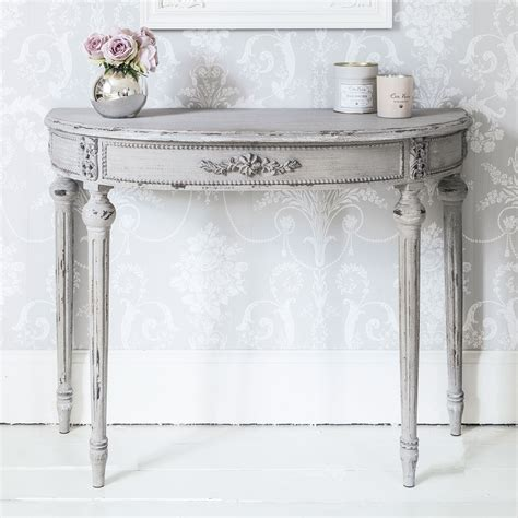 shabby chic half moon table half moon table for aesthetical look hometowntimes linda g furniture ideas pinterest
