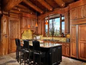 kitchen log cabin kitchens design ideas cabin