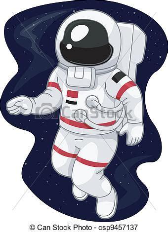 astronaut illustration einer austronaut im weltraum