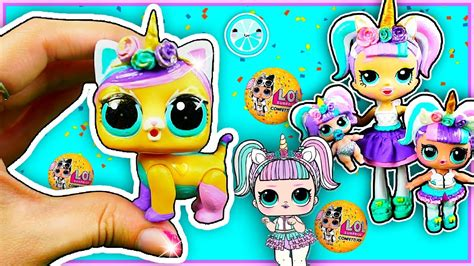 unicorn pet lol surprise custom doll diy confetti pop