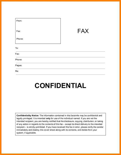 confidential fax cover sheet ledger review