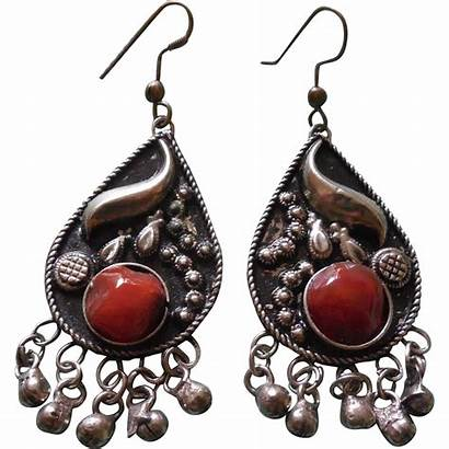 Earrings Stone Boho Carnelian Unusual