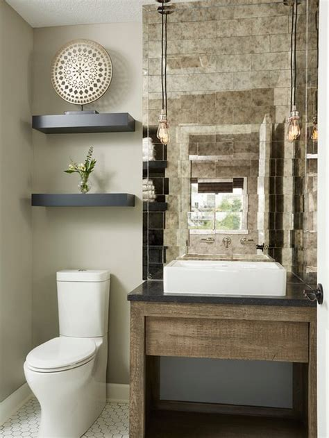cloakroom design ideas renovations   mirror tiles