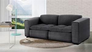 canape 2 places avec assise tissu matelassee et 2 coussins With tapis bébé avec canapé assise