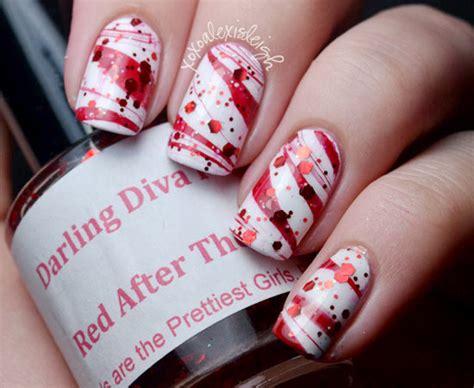 fun  easy christmas candy cane nail designs fashionsycom