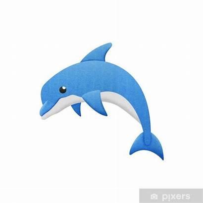 Dolphin Cartoon Sea Fish Underwater Creatures Vector
