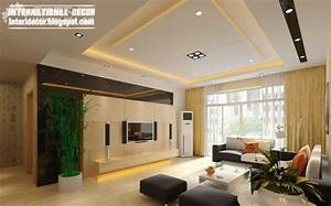 10 unique false ceiling modern designs interior living room for Interior design for living room pdf