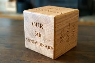 5th year anniversary blocks makemesomethingspecial - 5 Year Wedding Anniversary Gift