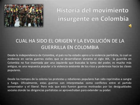 Insurgent Resumen by Historia Movimiento Insurgente En Colombia