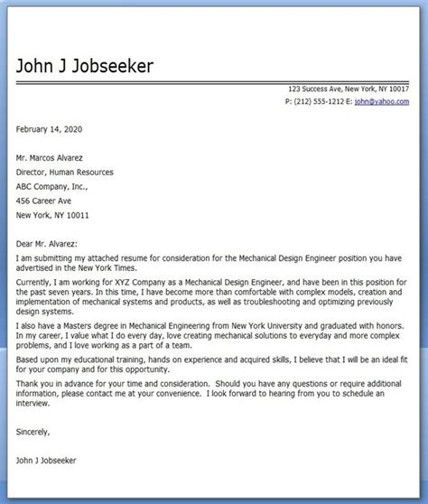 Project Engineer Cover Letter Sle by Cover Letter Mechanical Designer Sle Creative Resume