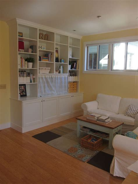Ikea Hack 2 Besta Builtin Family Room Tv Bookshelf