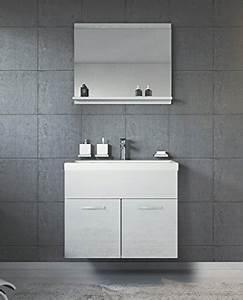 Badezimmer Unterschrank Hochglanz : badezimmer badm bel montreal 02 60cm waschbecken hochglanz wei fronten unterschrank ~ Markanthonyermac.com Haus und Dekorationen