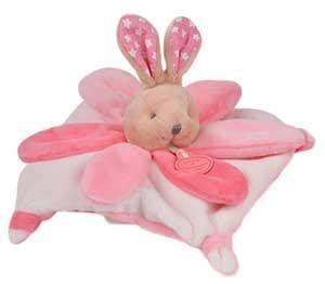 mini et compagnie mini doudou lapin blanc et marron clair collector dc2790 doudou et compagnie