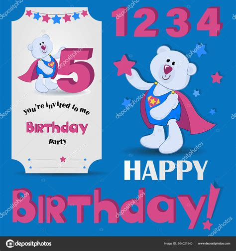 Happy Birthday Years Anniversary Numbers Set Numbers Funny