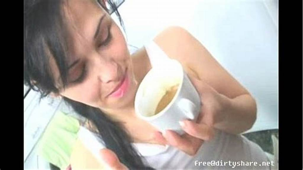#Teen #Drink #Morning #Coffee #With #Sperm