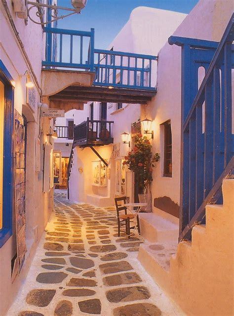 Santorini Street Travel Greece Pinterest