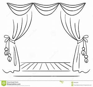Draw the curtain clipart clipground for Theatre curtains drawings