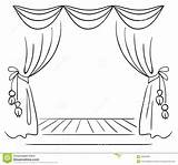 Clipart Curtain Draw Curtains Drawing Theater Stage Clipground sketch template