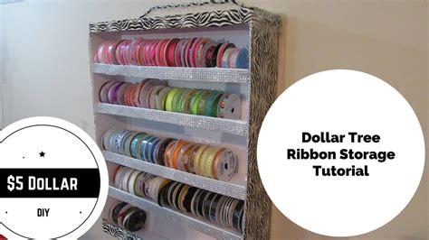 dollar tree diy ribbon storage holder youtube