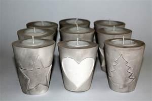 Mit Gips Basteln : diy gips beton teelichthalter weihnachten diycarinchen ~ Lizthompson.info Haus und Dekorationen