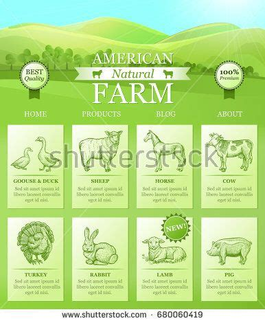 american farm landing  website  bright landscape