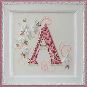 Letter K Monogram Embroidery Kit