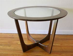 Table round glass coffee table with wood base sunroom for Wood coffee table with glass insert