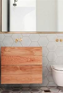 le carrelage hexagonal une tendance qui fait son grand With carrelage adhesif salle de bain avec led qui réagit au son