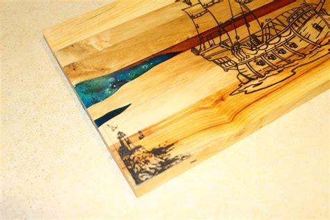 cutting board  epoxy  kvadrowood  lumberjockscom