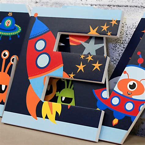 cute outer space letters  wooden letters company