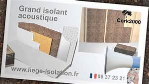 Liege Isolant Phonique : isolation naturelle plaques isolation naturelle en li ge ~ Voncanada.com Idées de Décoration