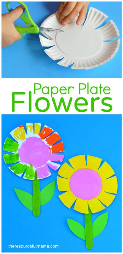 paper plate flower craft for activities for 541 | 4e0491c900e79ff657fac70a1dab8394