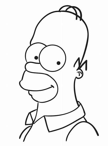 Coloring Cartoon Pages Simpson Homer