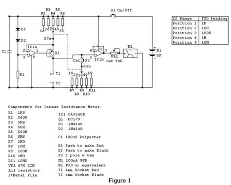 linear resistance meter circuit diagrams
