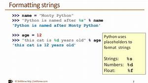 Python programming essentials m9 string formatting for Python string template