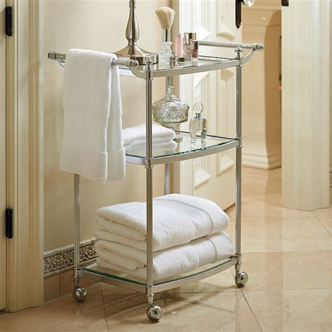 bathroom carts belmont 3 tier rolling bath cart traditional bathroom cabinets and shelves