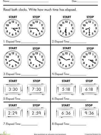 calculate elapsed time balanced schooling homeschool grade
