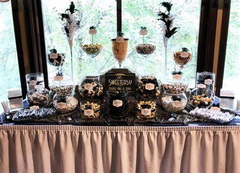 great gatsby themed wedding candy buffet  city candy