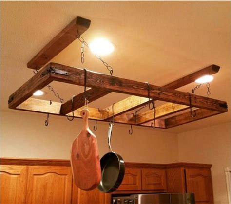 17 best ideas about pot rack hanging on pan storage pan organization and hanging pots