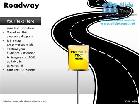 Road Map Powerpoint Template Free editable road map power point slides and road map