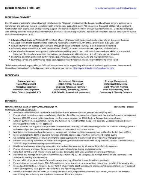 rob wallace phr resume linkedin