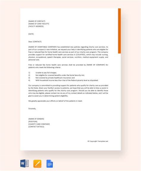 letter  support templates  samples examples