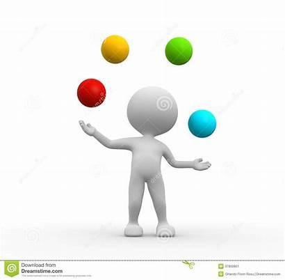 Juggling Balls Clipart Juggles Ball Person 3d